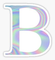 Beta B Holographic Greek Sorority Sticker