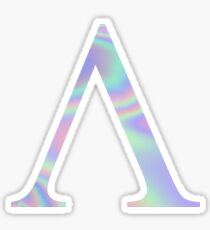 Lambda V Holographic Greek Sorority Sticker