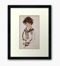 Egon Schiele - Young Boy 1918 Framed Print