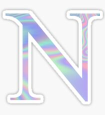 Nu N Holographic Greek Sorority Sticker