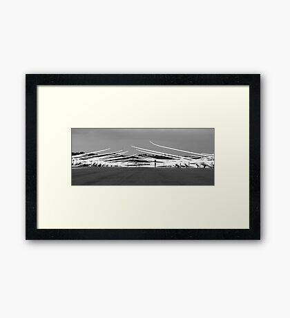 Black and White,wings in a lineup. Framed Print