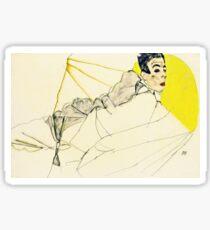 Egon Schiele -Reclining Boy Sticker