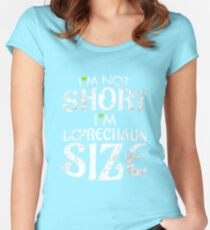 2214ac21 I'm Not Short I'm Leprechaun Size Funny St. Patty's Fitted Scoop