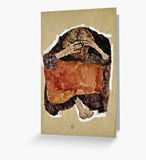 Egon Schiele -Troubled Woman Greeting Card