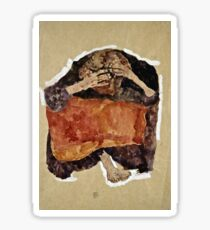 Egon Schiele -Troubled Woman Sticker