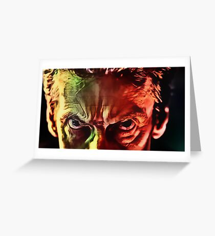 Doctor Who - Capaldi Eyebrows Greeting Card