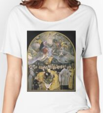 El Greco - The Burial Of The Count Of Orgaz Women's Relaxed Fit T-Shirt