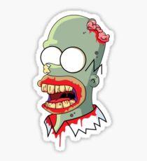 Zombie Homer Simpon Sticker