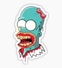 Zombie Homer Simpson Sticker