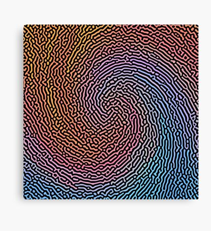 Fingerprint Wave Canvas Print