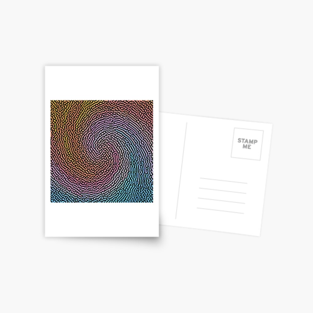Fingerprint Wave Postcard