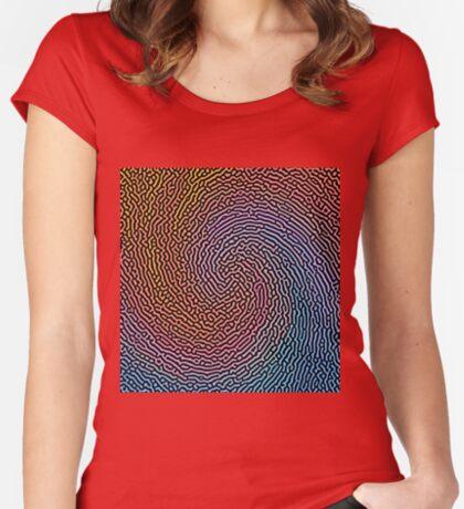 Fingerprint Wave Fitted Scoop T-Shirt