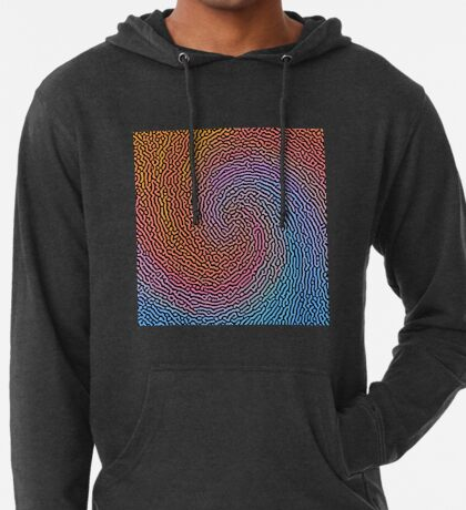 Fingerprint Wave Lightweight Hoodie