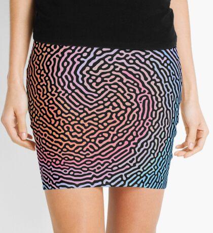 Fingerprint Wave Mini Skirt
