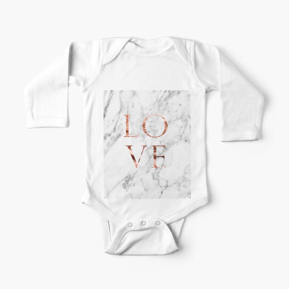 Rosa de oro de mármol AMOR Body para bebé