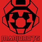 Mariobots! (Outline on red) by MikePHearn