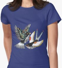 Sparrow & Swallow Womens Fitted T-Shirt