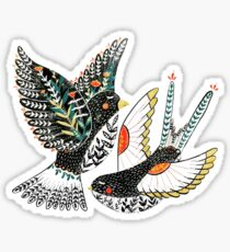 Sparrow & Swallow Sticker