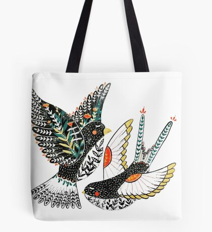 Sparrow & Swallow Tote Bag