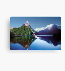 Mirror Of Milford Sound Canvas Print