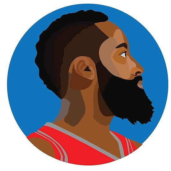 "Nba2k19 James Harden: Cartoon Illustration : NBA"" Photographic"