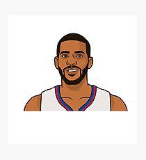 Chris Paul ~ Los Angeles Clipper NBA Player Cartoon Photographic Print