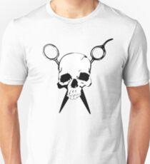 Skull and Shears Hair Stylist Art Unisex T-Shirt