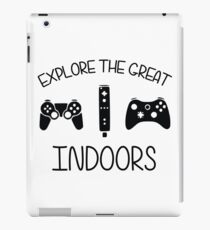 Explore The Great Indoors Video Games iPad Case/Skin
