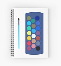 water colour colourful design Spiral Notebook