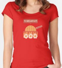To Breakfast Women's Fitted Scoop T-Shirt
