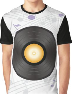 vinyl record with orange label Graphic T-Shirt