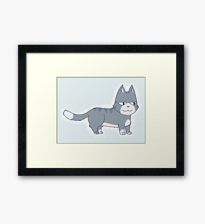 Disappointed Cat Framed Print