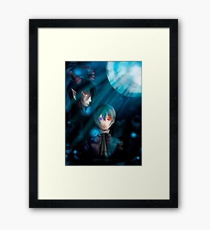 Black butler Framed Print