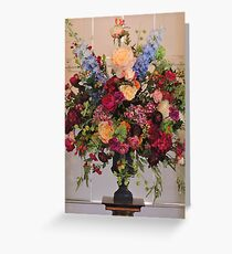 Flowers In The Mansion Greeting Card