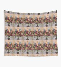 Flowers In The Mansion Wall Tapestry