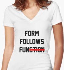 Form Follows Fun Women's Fitted V-Neck T-Shirt