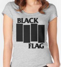 Camiseta entallada de cuello redondo Bandera Negra