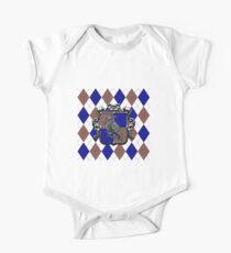 Raven House Crest on Argyle Kids Clothes