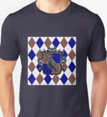 Raven House Crest on Argyle Unisex T-Shirt