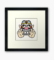 Game And Wario Framed Print