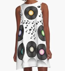 vinyl records A-Line Dress