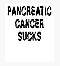 Pancreatic Cancer T Shirt Photographic Print