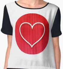 Love Coeur Women's Chiffon Top
