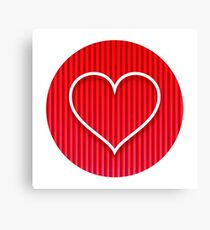 Love Coeur Canvas Print