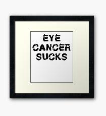 Eye Cancer T Shirt Framed Print