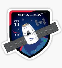 CRS-10 Mission Logo Sticker