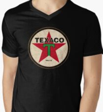Texaco - Vintage Sign Men's V-Neck T-Shirt