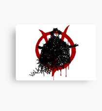 V for Vendetta - V made of V Canvas Print