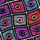 Eyes, digital pattern abstract wave  by RosiLorz