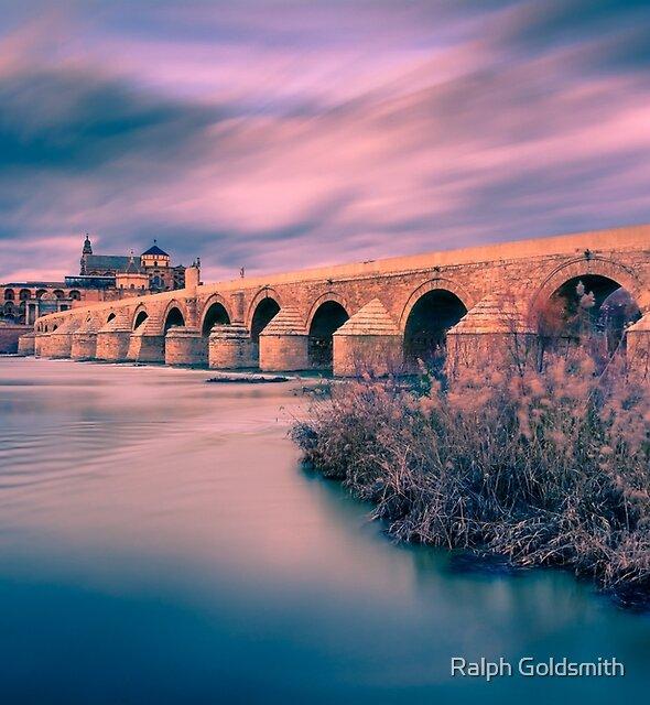 Sunset at the Roman Bridge of Cordoba by Ralph Goldsmith
